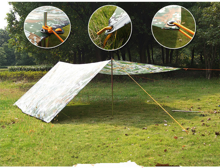 Outdoor camouflage cloth c&ing tent sun shelter Simple Tent windproof rainproof sunshade canopy waterproof cloth 3*3 m-in Tents from Sports ... & Outdoor camouflage cloth camping tent sun shelter Simple Tent ...
