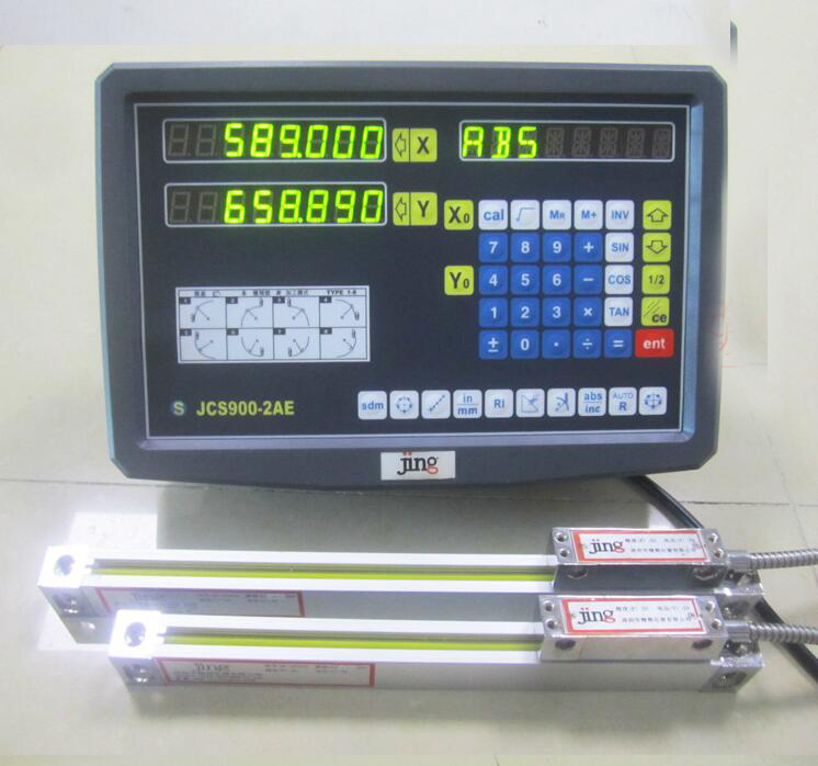 High Accuracy 4# Milling Machine Linear Sensor 2 Axles DRO Linear Scale Digital Readout with Route 450mm & 900mm  цены