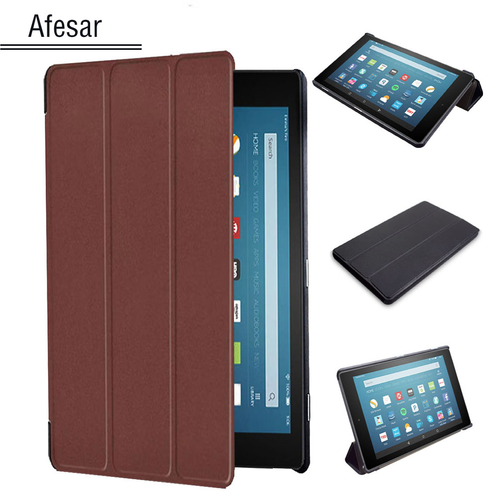 UltraSlim Flip Cover for Amazon Fire HD 8 2016 (6th Gen) tablet Pu Leather Stand Folio Smart book case 6th Gen 2016 Release  slim fit folio flip pu leather case cover skin back case for amazon all new kindle 6 display 8th gen 2016 release
