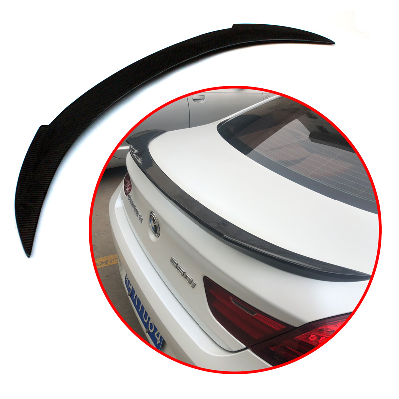 High quality Carbon <font><b>Spoiler</b></font> For <font><b>BMW</b></font> 6 Series M6 <font><b>F06</b></font> F12 640i 650i 640i 2012-UP Sedan Carbon <font><b>Spoiler</b></font> V Style rear wing <font><b>spoiler</b></font> image