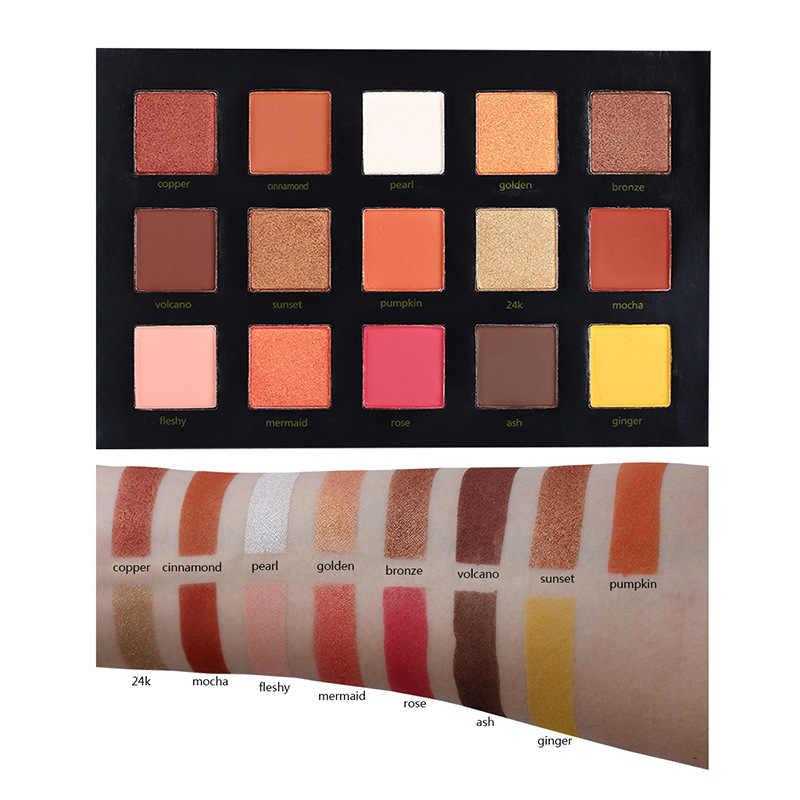 BEAUTY GEGLAZUURD 15 Kleur Oogschaduw Palet Make up langdurige Oogschaduw Matte Gemakkelijk te Dragen Make-Up Palet paleta de sombra