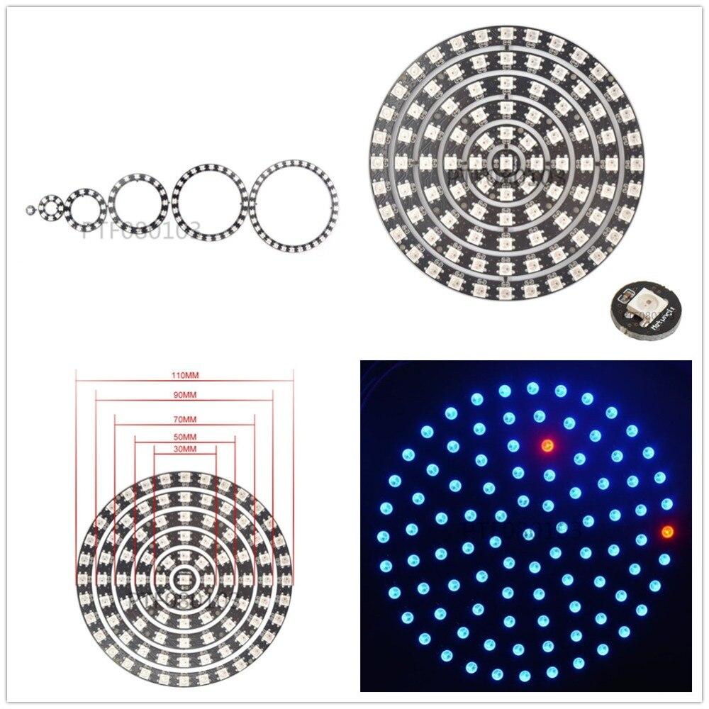 RGB LED Ring 24 Bits LEDs WS2812 5050 RGB LED Ring Lamp Light with Integrat X5P5