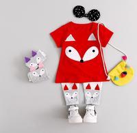 2017 mùa hè Mới quần áo baby set bông Dễ Thương mẫu T-Áo Sơ Mi + quần quần áo sets 0-2 năm cô gái bé thiết lập quần áo HW1044