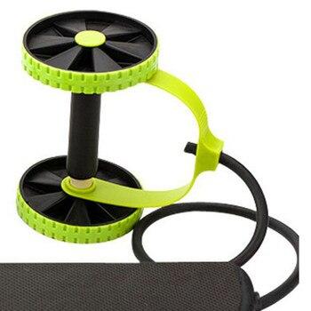 Ruote addominali ruote addominali rullo Trainer elastico resistenza addominale tirare la corda strumento esercizio multifunzionale Fitness