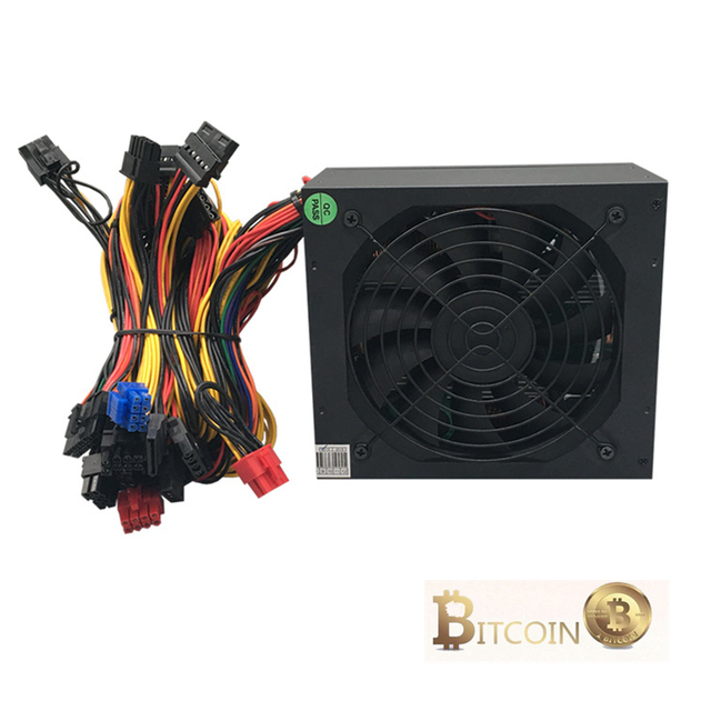 Power Supply 1600W Ethereum Mining Machine Aasic Bitcoin Miner Computer ATX 12V 138A Use For RX 470 480 570 1060 6 Graphics Card