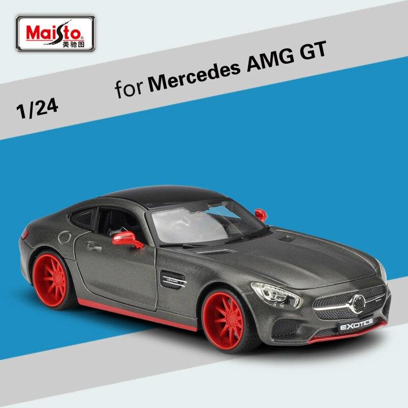 Maisto pour mercedes-benz AMG GT modèle de voiture de sport Version modifiée Simulation alliage Super course modèle de voiture Collection ornement 1:24