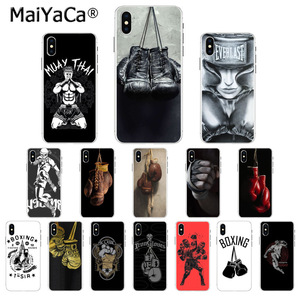 MaiYaCa Muay Thai Boxing Gloves Smart Cover Phone Case for iphone SE 2020 11 pro X XS MAX 66S 7 7plus 8 8Plus 5S XR(China)