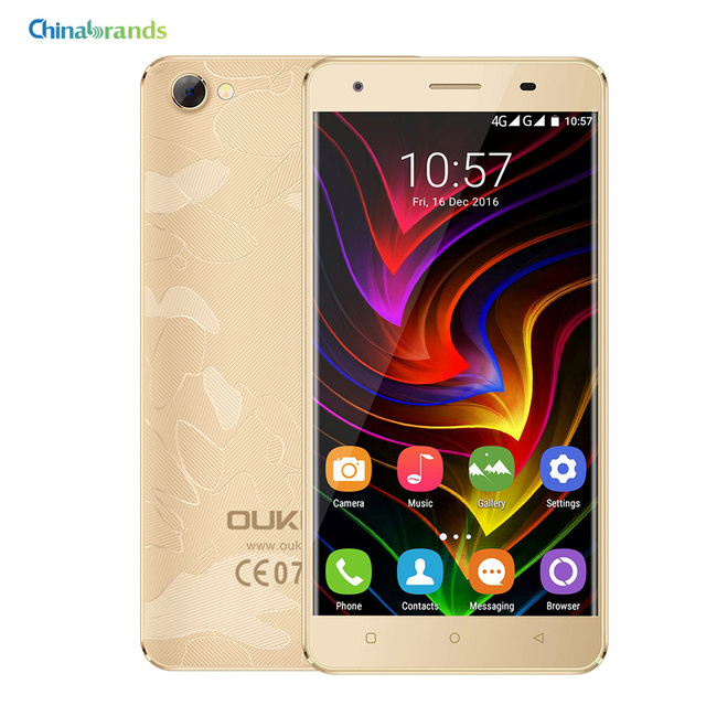 OUKITEL C5 Pro 4G Smartphone 5.0 inch Android 6.0 MTK6737 Quad Core 1.3GHz 2GB 16GB Dual Cameras Dual Micro SIM Cellphone