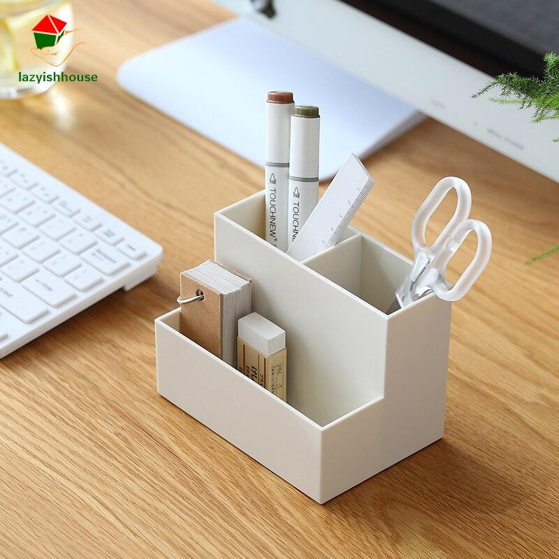 Mini desktop cosmetics storage box For Jewelry Organizer For Cosmetics Office Pen Box Container Desktop Storage Assembly 65863