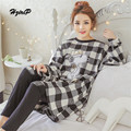 New Cartoon Cute Pajama Sets Women 2016 Loose Pijamas Comfortable Pyjama Suit 2 Piece Pijama Sleepwear For Ladies Pigiama Donna