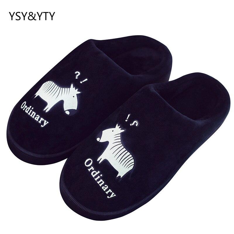 2019 Winter paar katoenen slippers vrouwelijke indoor warme antislip leuke tas met de thuismaand pluksel slippers mannelijke winter