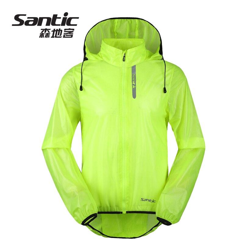 Santic Rain велосипедная куртка для мужчин, ветровка, спортивные майки, водонепроницаемый дождевик, Сверхлегкий дождевик, ветровка, зеленый, XXXL