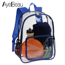 Kid Clear Transparent School Bag Children Backpack Schoolbag For Girl Boy Child Teenager Baby Back Pack Kindergarten Elementary цена 2017