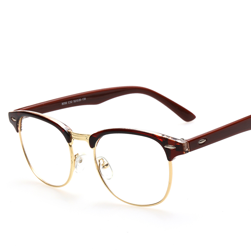 CNHUAIN Eyeglasses Men Brand Optical Frames Women Half Rim Clear ...