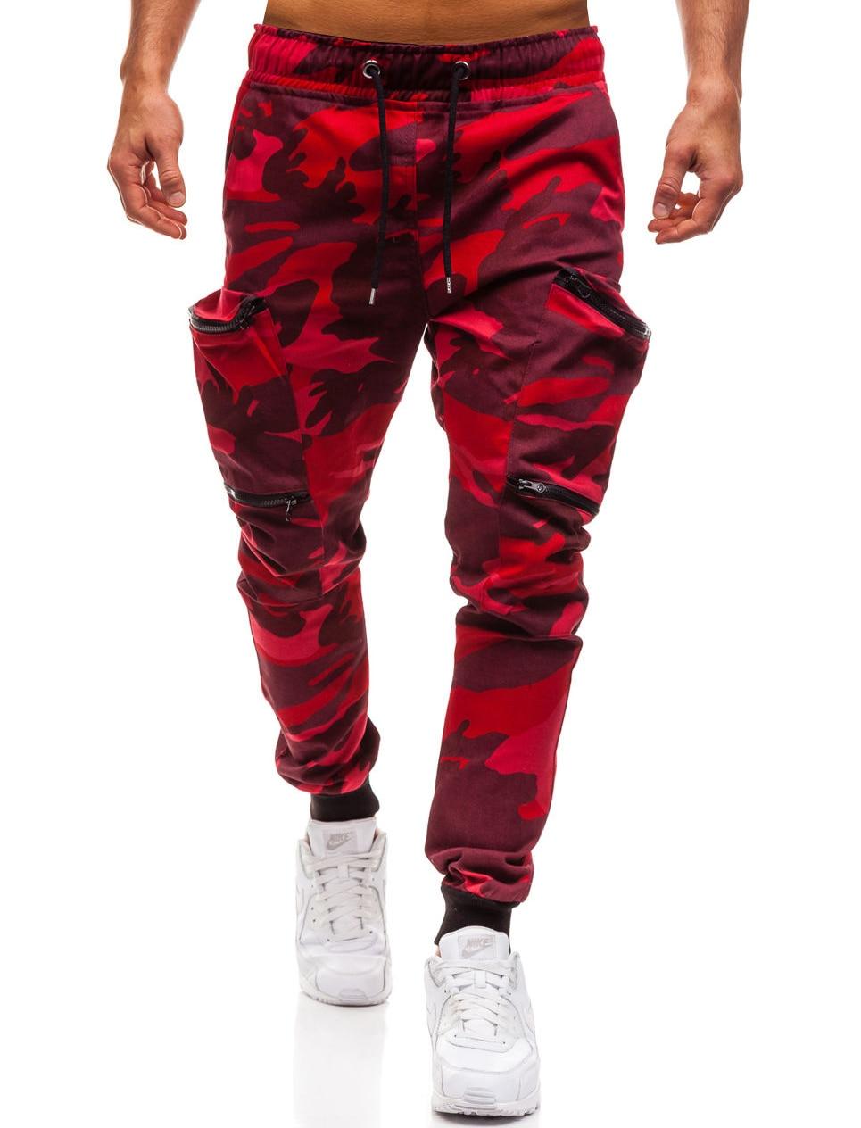 HTB1YV2sL4jaK1RjSZFAq6zdLFXaC Mens Joggers 2019 New Red Camouflage Multi-Pockets Cargo Pants Men Cotton Harem Pants Hip Hop Trousers Streetwear XXXL