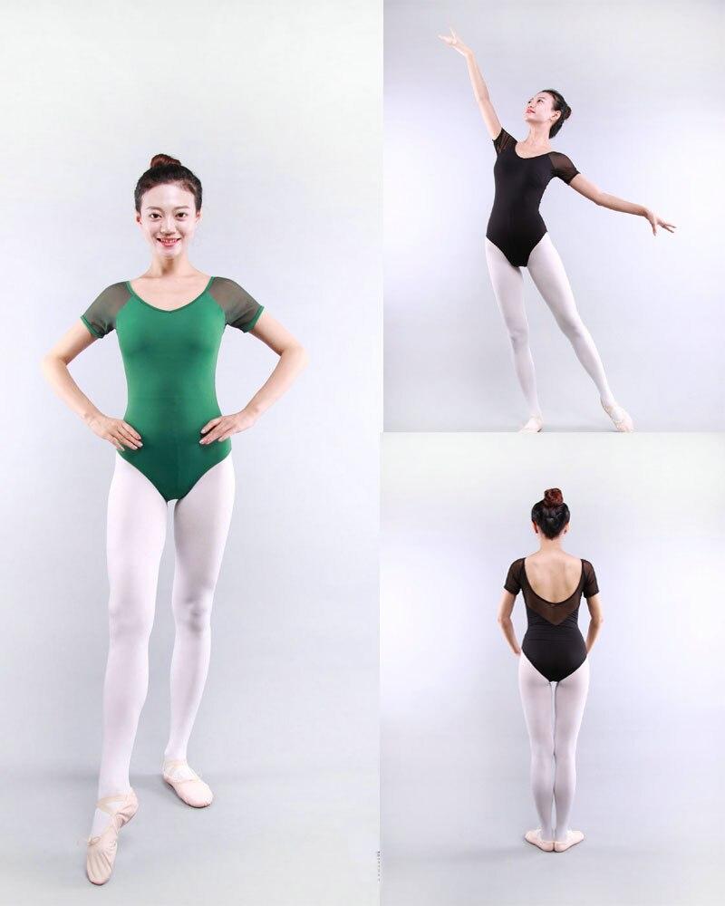 adult-gymnastics-leotard-mesh-dance-leotards-short-sleeve-font-b-ballet-b-font-leotards-for-women-dance-wear-justaucorps-adulte