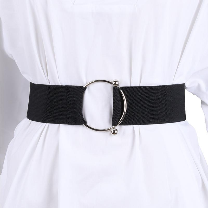 New Waistbands Ladies Decorative Wide Cummerbund Simple Dress Waistband Women Elastic Sweater Fashion Bundle Black Cloth Girdle
