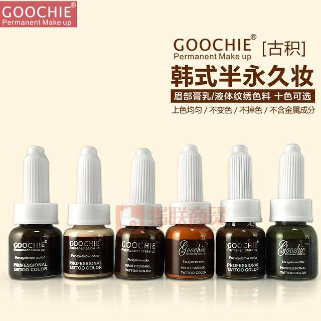 Goochie Permanente Creme Maquiagem Sobrancelha Pigmento, profissional da cor do Tatuagem para sobrancelha 10 g/pc