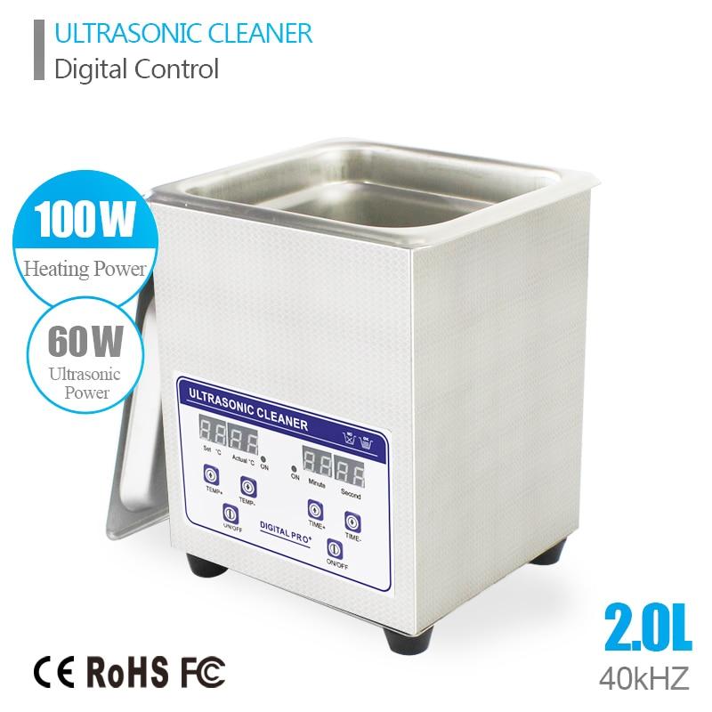 ФОТО Skymen 2L 40kHz Stainless Steel Ultrasonic Cleaner Bath Digital w/Timed Heater Ultrasound Cleaning Tank(JP-010S)