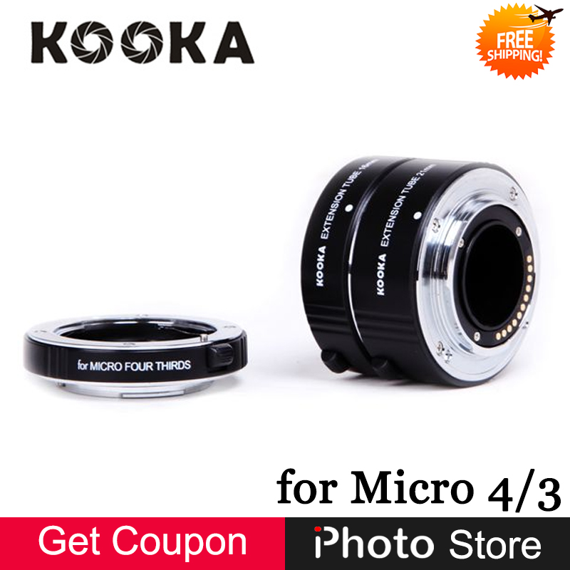 Kooka KK-FT47A Metal AF Auto Focus TTL Extension Tube Set for Olympus Panasonic Micro 4/3 M4/3 M43 Camera Lens (10mm 16mm 21mm)