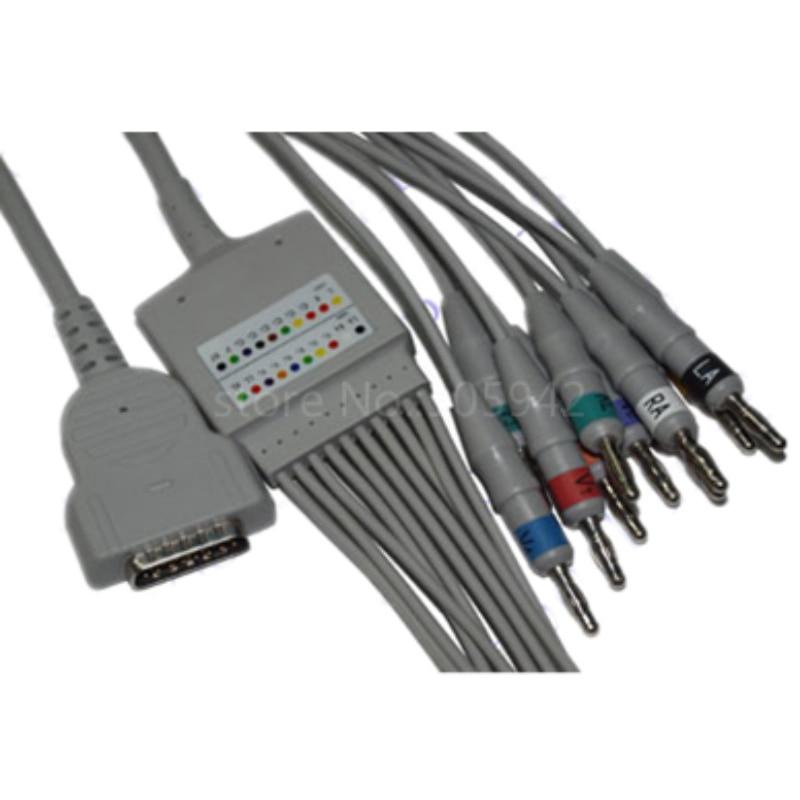 Compatible GE Marquette MAC1200/1200ST ECG machine patient cable 22341808