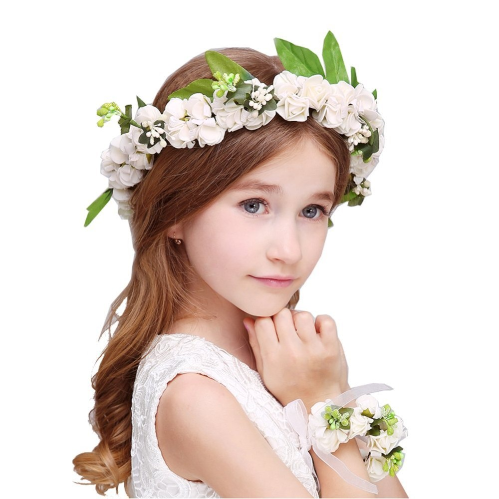 White Flower Wedding Bridal Headdress Ornamen Flower Girl Flower
