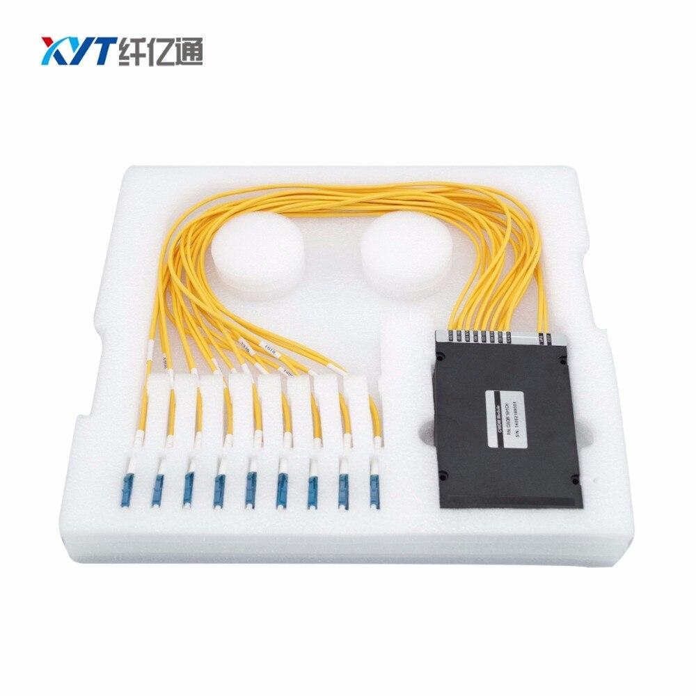 висококачествен 8-канален cwdm модул с lc / pc конектор за ftth catv единично влакно с разделител с голяма дължина на вълната
