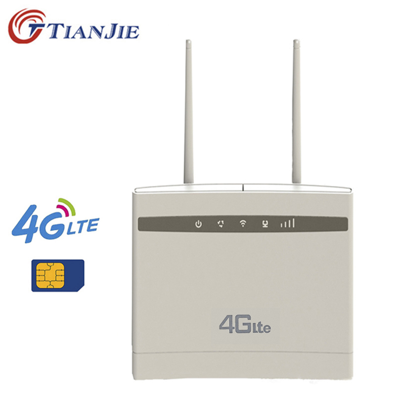 TianJie 4G CPE Wifi Repeater 300Mbps Wireless/Mini Wi Fi Router Gateway Plus Antenna PK Huawei B525 B525S-65a Tenda Router