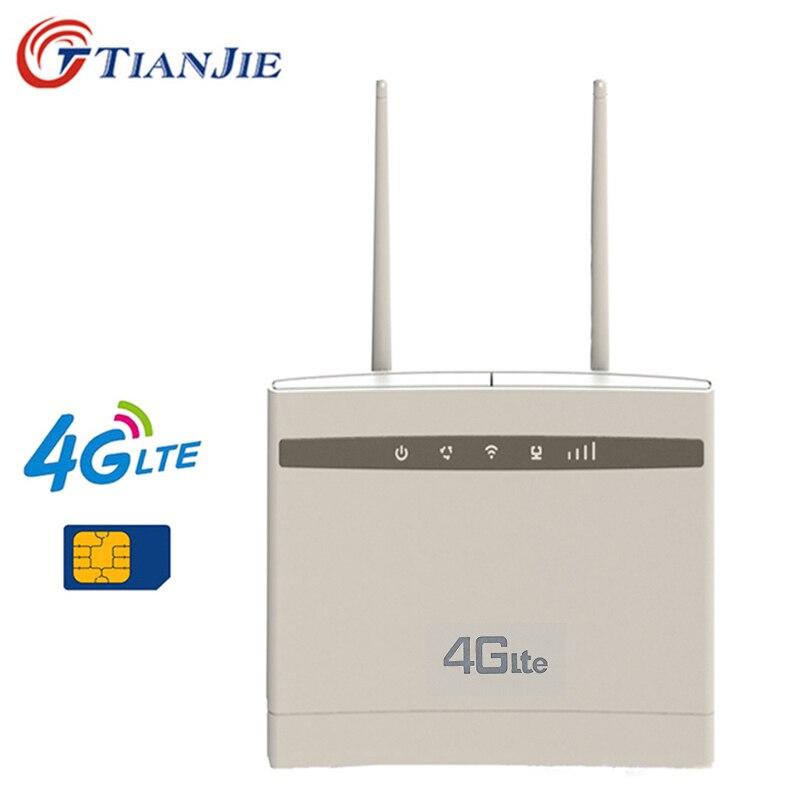 Tianjie 4g cpe wifi repetidor 300 mbps sem fio/mini roteador wi fi gateway mais antena pk huawei b525 B525S-65a tenda roteador