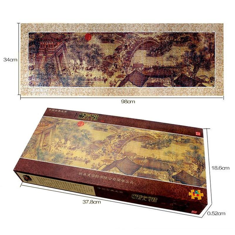 1000 Unids/set Pintura Al Óleo Famosa de Qing Ming shang he TU Creatividad rompe