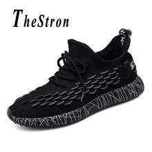 5ecf611844 Mens Malha Running Shoes Malha Ar Tênis de Corrida Livre peso Leve Baratos  Slip-on Tênis de Corrida Atlética para Homens