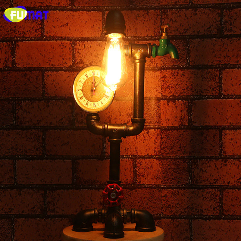 Pipe Vintage Table Lamp 11