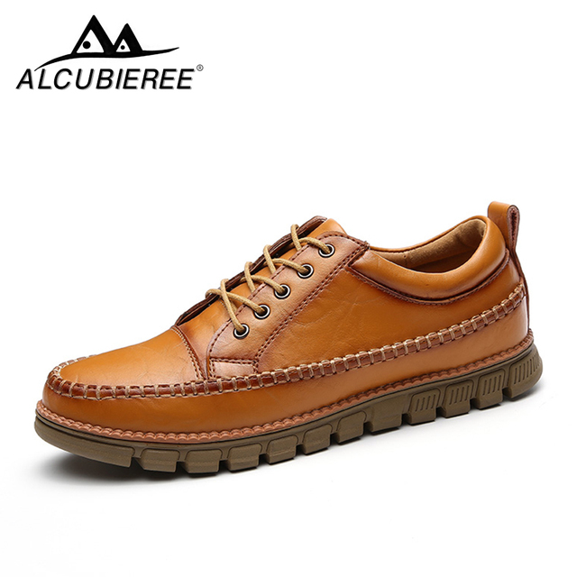 Nueva alta calidad Casual zapatos hombres zapatos de cuero genuino Lace Up mocasines caminar al aire libre zapatos del barco los hombres Sneaker moda