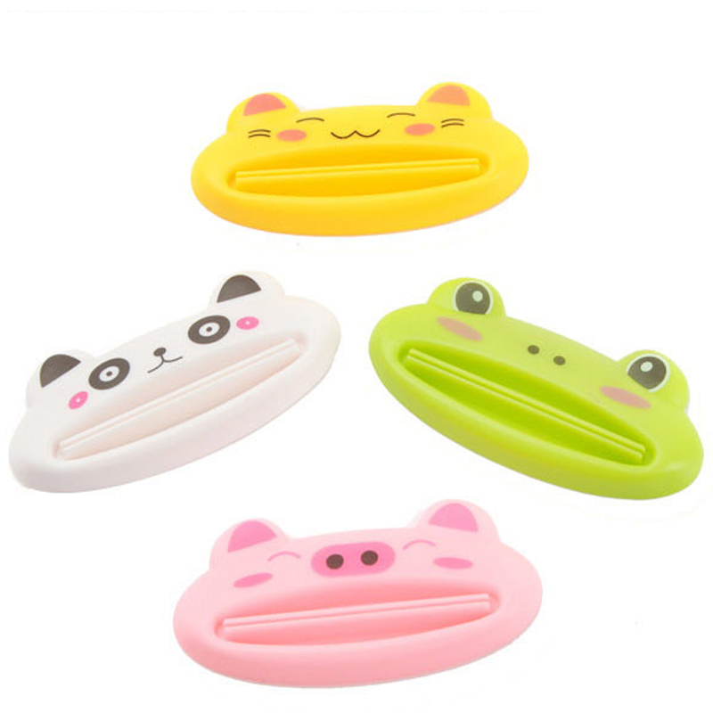 1 2pcs Toothpaste Tube Squeezer Sexy Red Lip Shape Bathroom Tube Squeezer Dispenser Cute Cartoon Squeezer Dispenser Random Color in Bathroom Accessories Sets from Home Garden