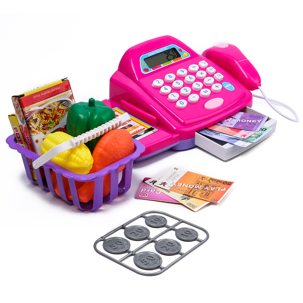 YoKoBiBi Toys Plastic Cash Register Cashier Pretend & Play C