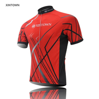 XINTOWN Team Cycling Jersey Red Top Short Sleeve Bicycle Clothing Bicicletas Bike Sportswear Quick Dry Ropa Ciclismo