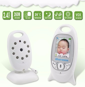 цена на Wireless Video Baby Monitor 2.0 inch Color Security Camera 2 Way Talk NightVision IR LED Temperature Monitoring with 8 Lullaby