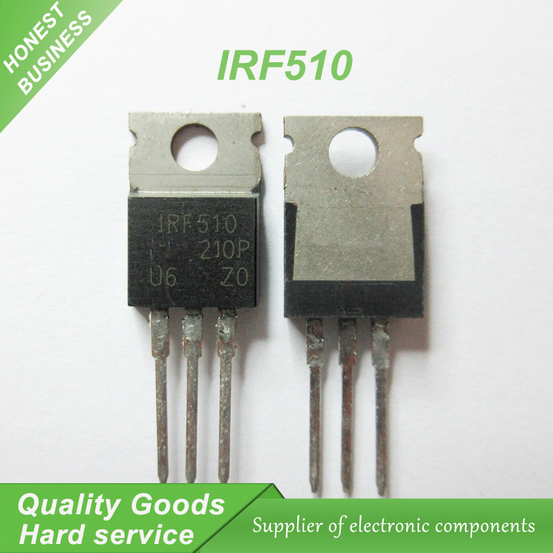 10pcs/lot free shipping IRF510PBF IRF510 F510 MOS field effect tube pipe 5.6A 100V TO-220 100% new original