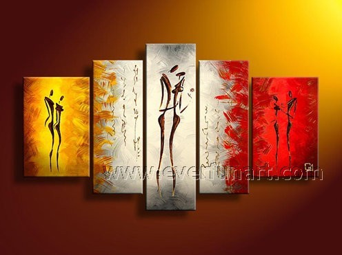 Framed Wall Art For Living Room Online Shop Wooden Framed Handpainted Wall  Art Abstract Figures