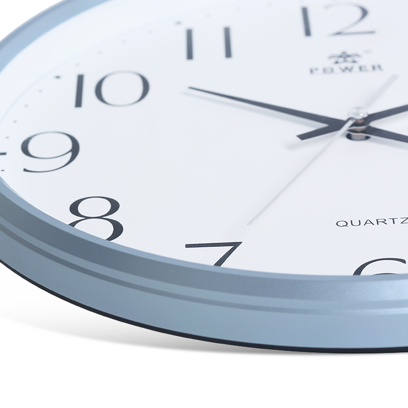 Power Brand 13 Inch Non Ticking Silent Wall Clock Quartz Sweep