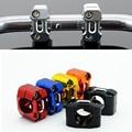 1 Par 5 Colores de Aluminio CNC Motorcycle Bar Abrazaderas de Barra Del Manillar bandas Universal Para 28 MM 1-1/8 pulgadas Fat Bar Dirt Bike Pit bicicletas