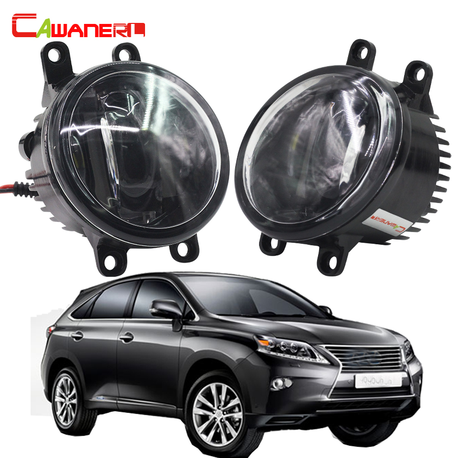 Cawanerl 2 Pieces Car Light Source LED Fog Light White 12V Daytime Running Lamp DRL For Lexus RX450H RX 450h 2010 Onwards qvvcev 2pcs new car led fog lamps 60w 9005 hb3 auto foglight drl headlight daytime running light lamp bulb pure white dc12v