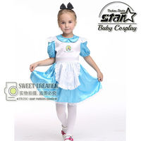 f6c26a056 ... Vestido Trajes Fantasia para Menina Roupas Festa Máscaras. Kids Alice  In Wonderland Costume Lolita Dresses Children Maid Cosplay Dress Fantasia  Costumes ...