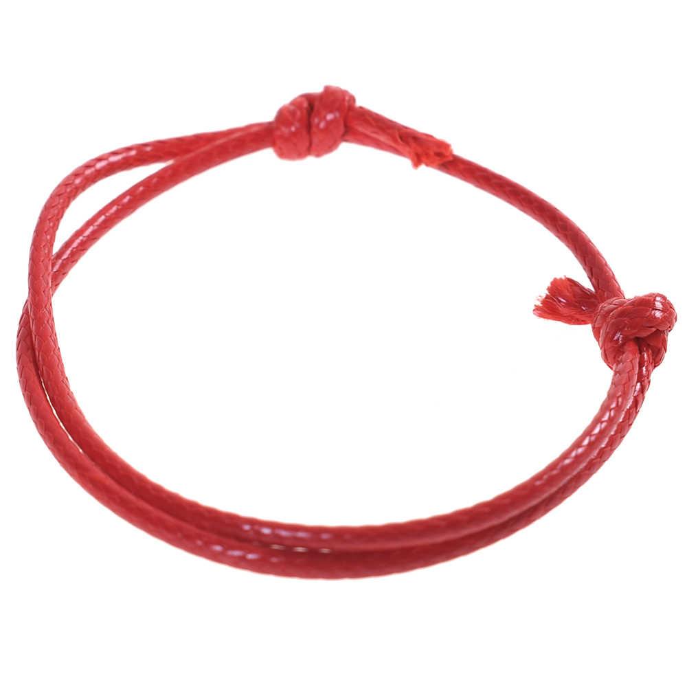 2019 moda skórzana bransoletka kobiety czerwona nić bransoletki męska bransoletka liny biżuteria String Charm bransoletka pary biżuteria prezenty