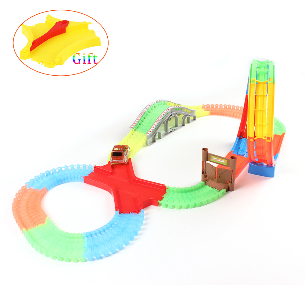 Glow race toy track Playsets Flash in the Dark Accessory 360 Loop de ...