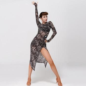 2 colors leopard latin dance dress women latina salsa dress rumba modern dance costumes for women latin dress dancewear tango