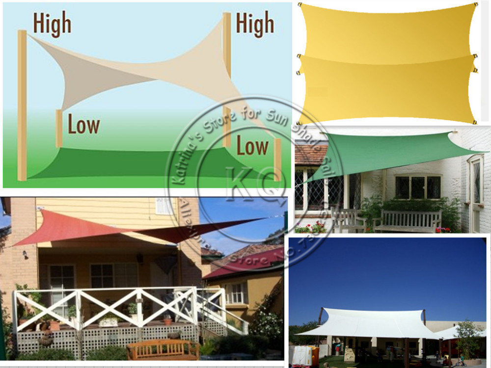 5 5 X 5 5 M Pcs Customized Waterproof Square Sun Shade Sail
