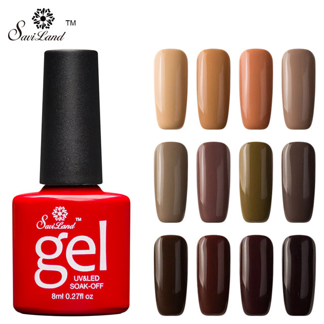 Online Shop Saviland 1pcs Coffee Chocolate Series Gel Nail Varnish ...