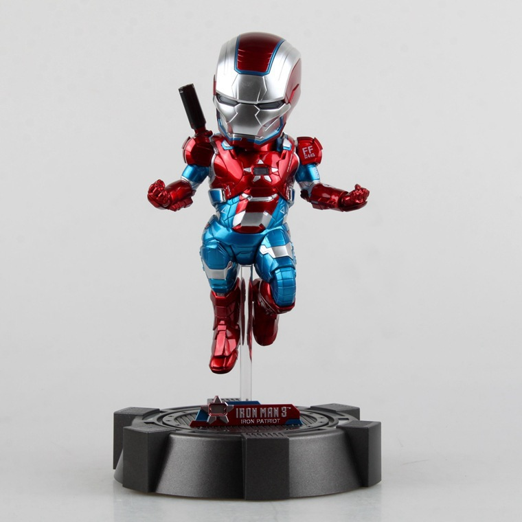 Iron Man 3 The Iron Patriot Defender Special RED 18 CM LED Flash Light Eyes Plat PVC Action Figures Collection Model Toys Dolls the flash man aciton figure toys flash man action figures collectible pvc model toy gift for children