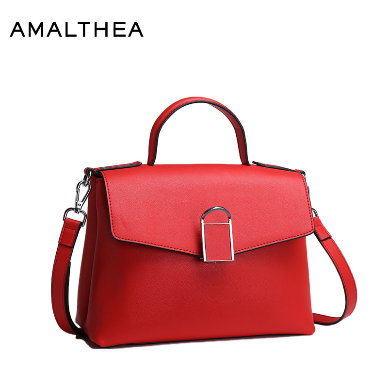 цена на AMALTHEA Brand Fashion Designer Handbags High Quality Shoulder Bags Handbags Women Famous Brands Tote Bag Ladies Bags AMAS016